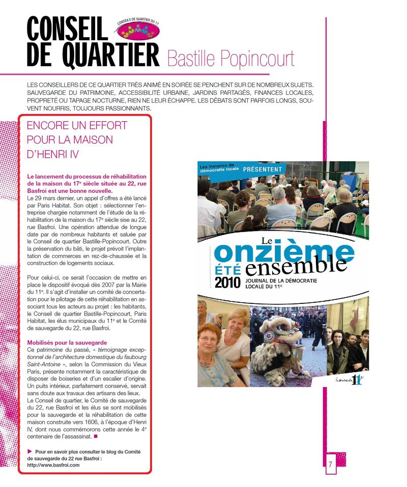 Journal democratie locale Eté 2010 N°1 Page-7 - Article Basfroi