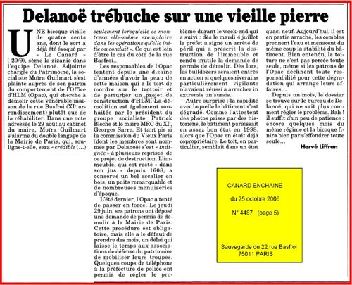 2006-10-25 Canard Enchaine No 4487 du 25 octobre 2006