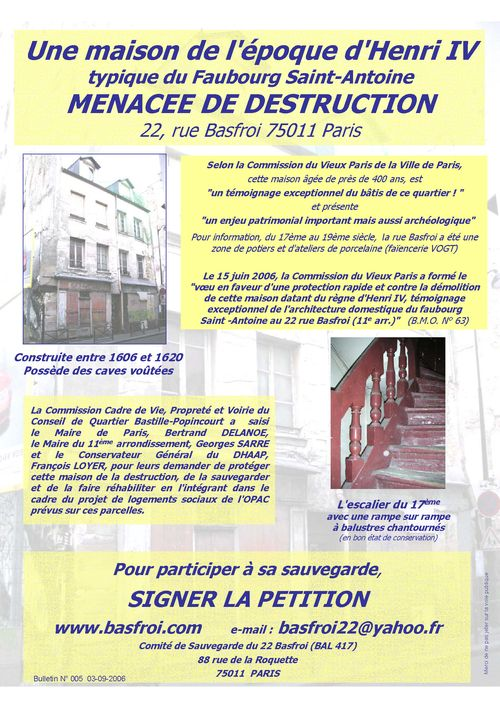 2006-09-03 Bulletin No 005  03 septembre 2006  Sauvegarde 22 rue Basfroi 75011 Paris  France